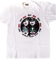 KISS T-Shirt - KISS Alive Fan Club Shirt, (size L)