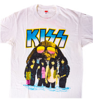KISS T-Shirt - Hot in the Shade Tour 1990, white, (size L)