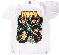 KISS T-Shirt - Crazy Nights, 1987, white, (size L)