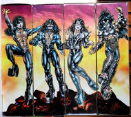 KISS Figures - Spencer Gifts 24 inch, Destroyer set of 4 with boxes.