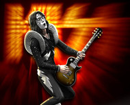 KISS Figure - Knucklebonz Rock Iconz Statue - Alive! Ace Frehley