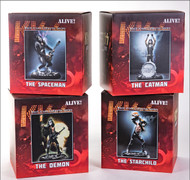 KISS Figures - Knucklebonz Rock Iconz Statue - Alive! set of 4