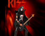 KISS Figure - Knucklebonz Rock Iconz Statue - Hotter Than Hell, Gene Simmons