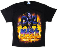 KISS T-Shirt - World Domination tour dates, (size L)