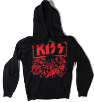 KISS Sweat Shirt - Hooded, KISS Red Roses, (size S)