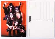 KISS Postcard - Alive Red Backgound, verical