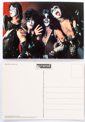 KISS Postcard - Alive Group, Paul Hand-Fan
