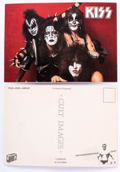 KISS Postcard - Alive Red Background horizontal