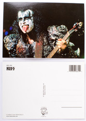 KISS Postcard - Gene Dynasty Live Tongue
