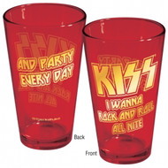 KISS Cherry Red Pint Glass