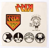 KISS Temporary Tattoos - Sheet of 7, 1996