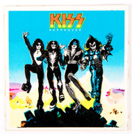 KISS Sticker - Destroyer, square blue