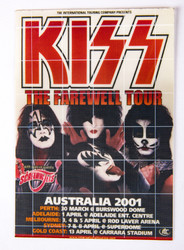 KISS Decal - Australia 2001, window decal