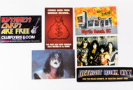 KISS Postcards and Stickers - assorted set of 6, (B)