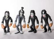 KISS Figures - Gruntz Set of 4 - DRESSED TO KILL, (no box)