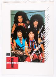 Vinnie Vincent Autograph - 1987 KISS Calendar