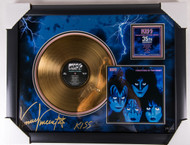 KISS Vinnie Vincent Autographed Creatures Gold Record, (19/50) - with USED MARKER