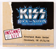 KISS CD - Instant Live - Cincinnati OH, 2004