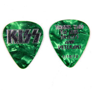 KISS Guitar Pick - Thank You Troops and Veterans pre-tour pick, 7/19/12 (emerald green)