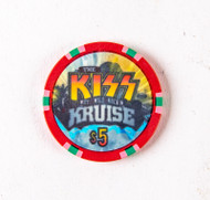 KISS Poker Chip - $5 KISS Kruise I