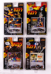 KISS Johnny Lightning Cars - Stock Cars, Set of 4, (cards #8,5,39 and 50)