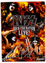 KISS Autograph - Eric Singer Signed Rock the Nation Live DVD