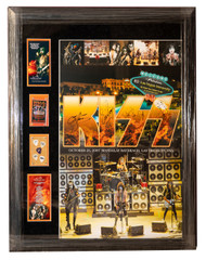 """KISS Autograph - Signed by Entire Band, Las Vegas Mandalay Bay Casino Monster-Size Framed Display, 36"""" x 45"""""""
