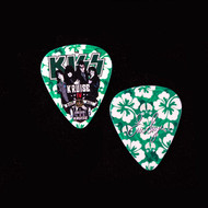 KISS Guitar Pick - KISS Kruise IV, Green Flowers, Eric