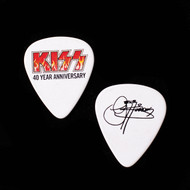 KISS Guitar Pick - 40th Anniversary Flaming Logo, Gene