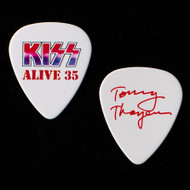 KISS Guitar Pick - Alive 35, Red Signature, Tommy
