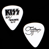 KISS Guitar Pick - Alive Worldwide, Black on White, Gene.