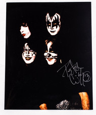 KISS Autograph - Peter Criss 8x10 photo, Dynasty outtake