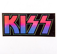 KISS Sticker - White on Black, 1997