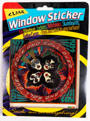 KISS Sticker - Rock and Roll Over, clear window sticker