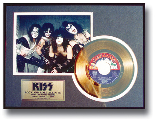 Kiss Gold Record Rock And Roll All Nite 45 Kiss Museum