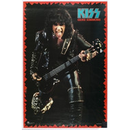 KISS Poster - Gene Animalize Live w/tongue, red border (NM, sealed)