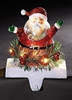 LED Santa Christmas Stocking Holder