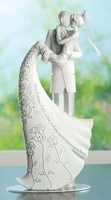 The Kiss Wedding Cake Topper