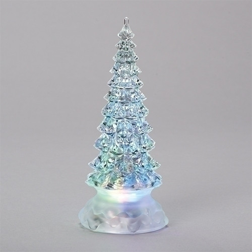 Acrylic Christmas Tree - acrylic LED glitter dome - 8.5in H