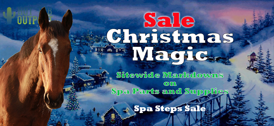 Christmas hot tub parts, accessories and supplies sale for your spa.