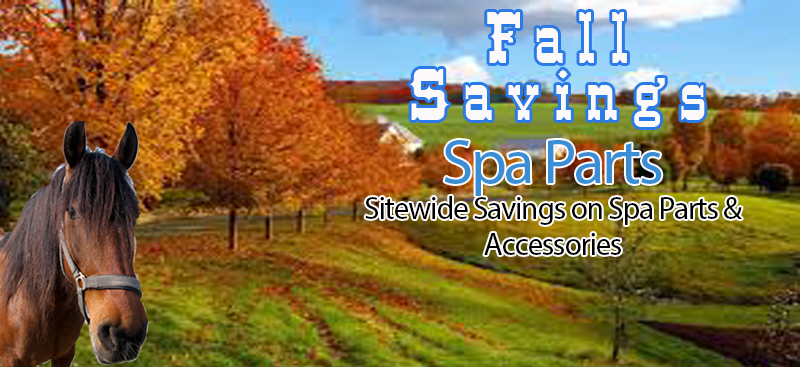 Fall savings on hot tub parts and accessories from Hot Tub Outpost.