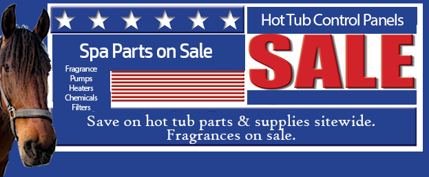 spa parts sale including filters, pumps, heaters and chemicals for your hot tub.