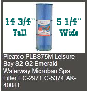emerald spa pleatco 75m filters