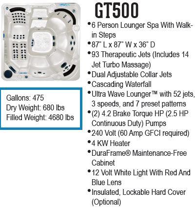 GT500 hot tub