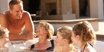 Hot Tub chemicals by Spa Breeze water care products.