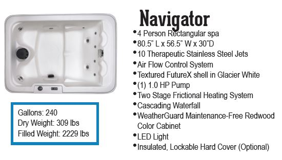 Navigator Spa hot tub by QCA Spas