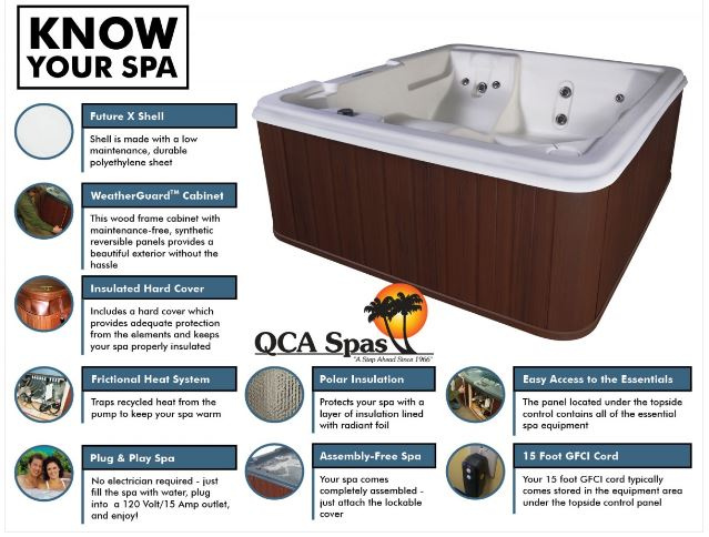 QCA Spas Orion hot tub features from Hot Tub Outpost