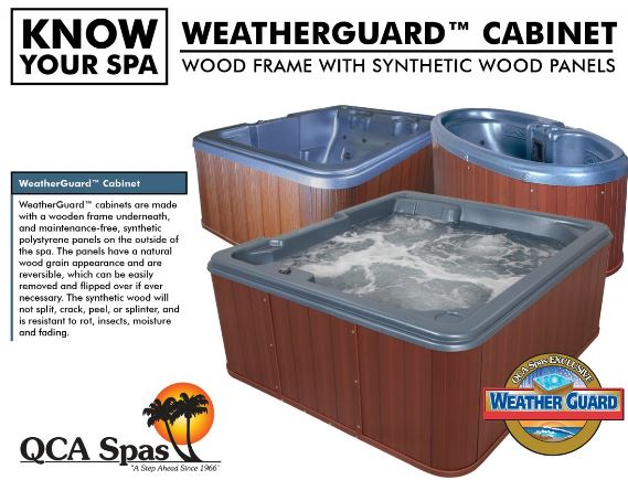 Stargazer hot tub with Weatherguard cabinet QCA