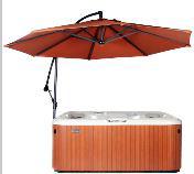 swivel umbrella hot-tub