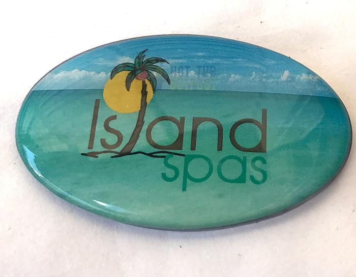 artesian island spa pillow logo dome 11020377